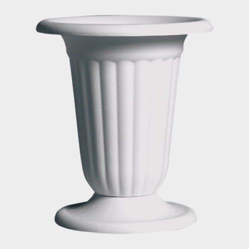 Pedestal Urn White  11.25