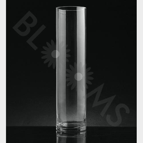 Medium Cylinder Glass Vase 16 inch H x 4 Inch