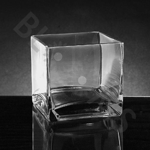 Xsmall Square Glass Vase (4