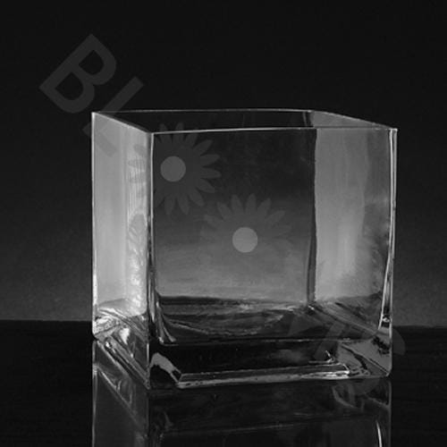 Small Square Glass Vase (5