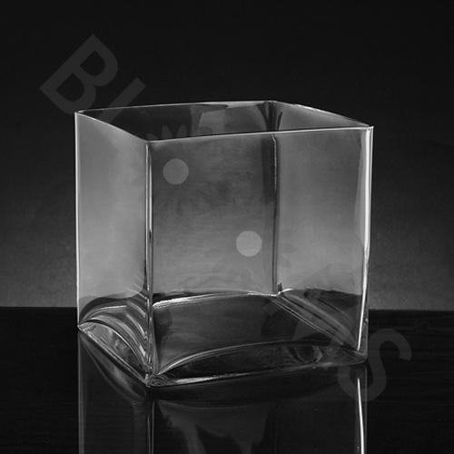 Medium Square Glass Vase (8