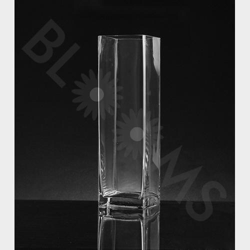 Large Square Glass Vase (14