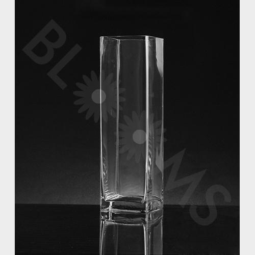 """9/""""Hx6/""""W Rectangle Glass Vase Clear"""