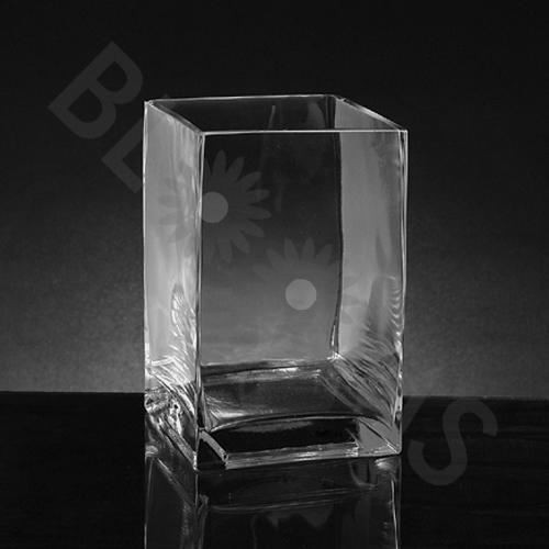 Medium Square Glass Vase (8