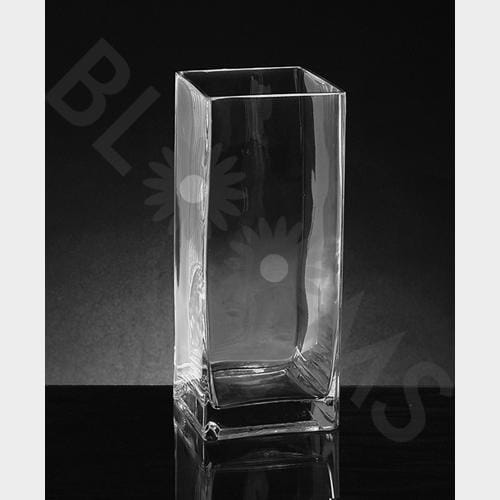 Large Square Glass Vase (14