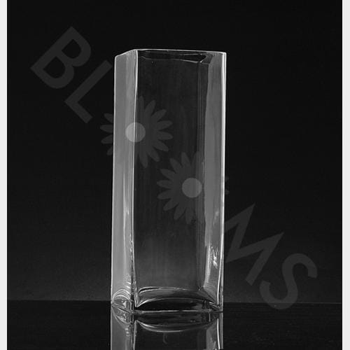 Large Square Glass Vase (16