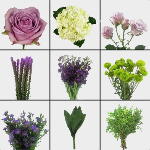 Punchy Purple DIY Wedding Flower Pack