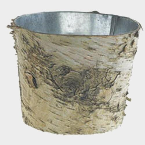 Birch Vase W/ Zinc Liner 7