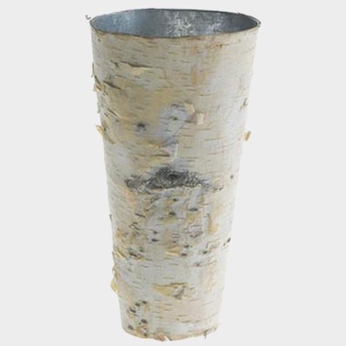 Birch Vase W/ Zinc Liner 9