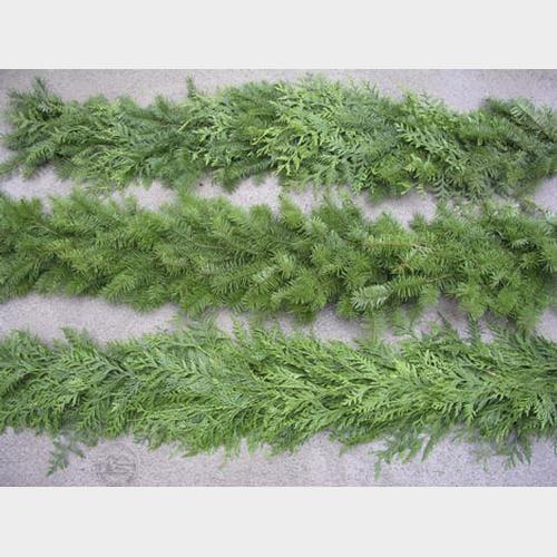 Mixed Greens Garland THIN 75 feet