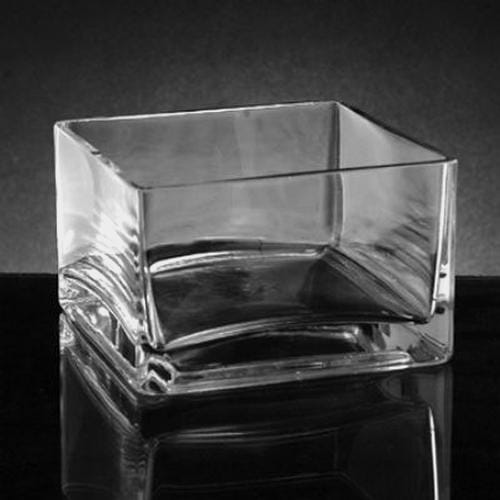 Small Square Glass Vase (4