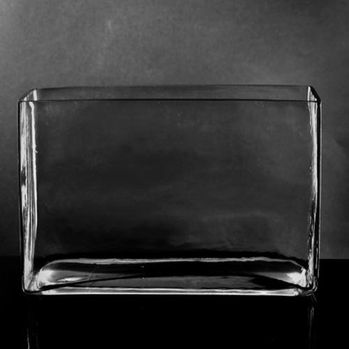 Large Rectangle Glass Vase (7