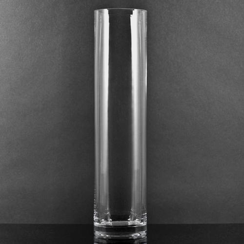 Large Cylinder Glass Vase 10 Inch H x 2 Inch
