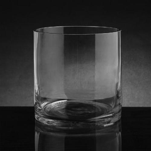 Xsmall Cylinder Glass Vase 5 Inch H x 6 Inch