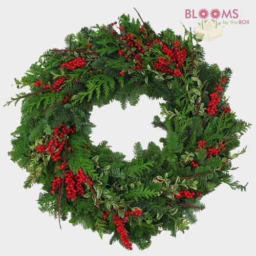 Berries N Branches Wreath 14 inch