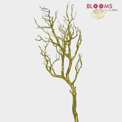 36 Inch Gold Metallic Manzanita Branch