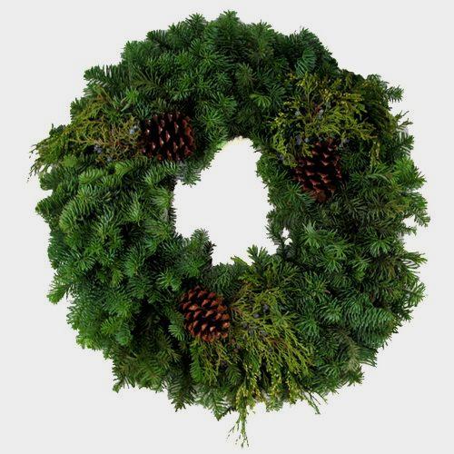 Deluxe Multi Cone Wreath 16