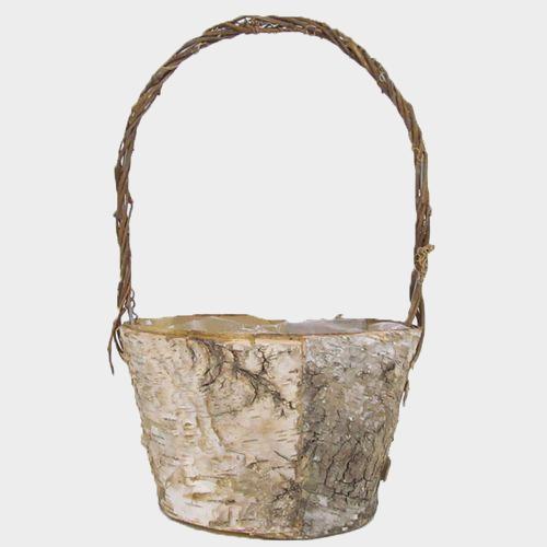 Large Rustic Birch Basket