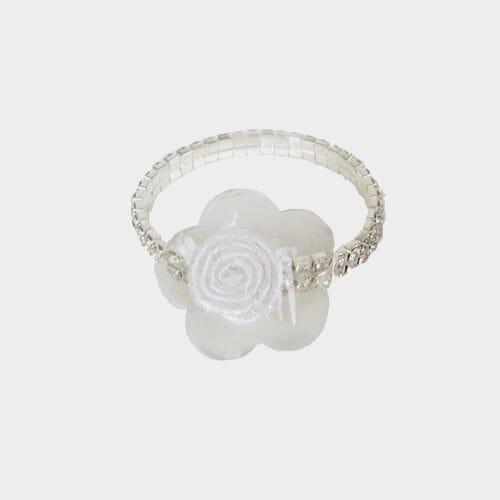 Clear Rhinestone Tennis Bracelet Wristlet