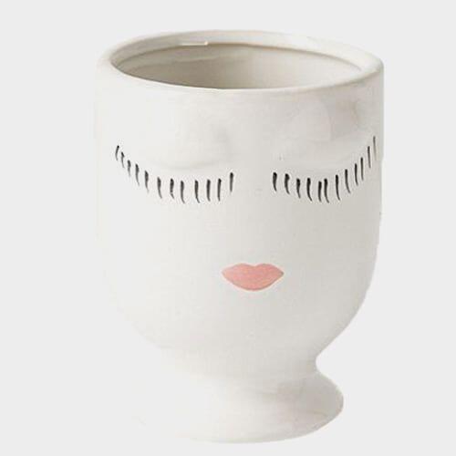 White Celfie Pot 5.5 x 6.75 Inch
