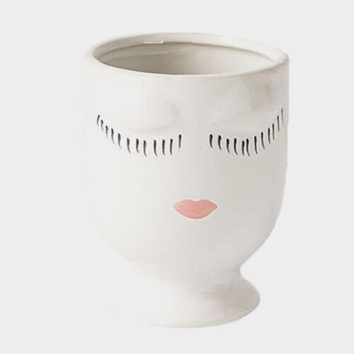 4 x 5.25 Inch White Celfie Pot
