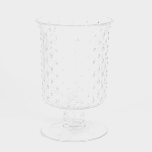 8 Inch H X 5 Inch X 5 Inch Footed Glass Cylinder