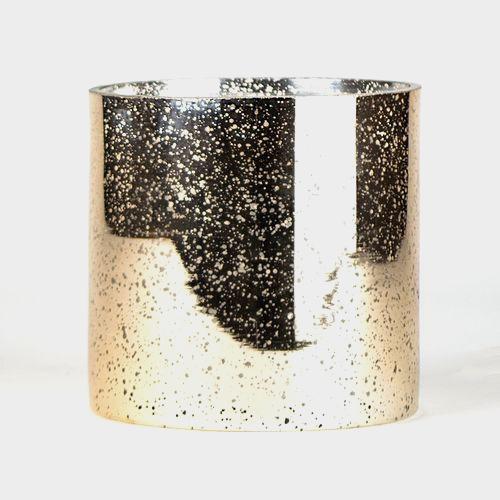 5 Inch H X 5 Inch Rose Gold Mercury Round Cylinder