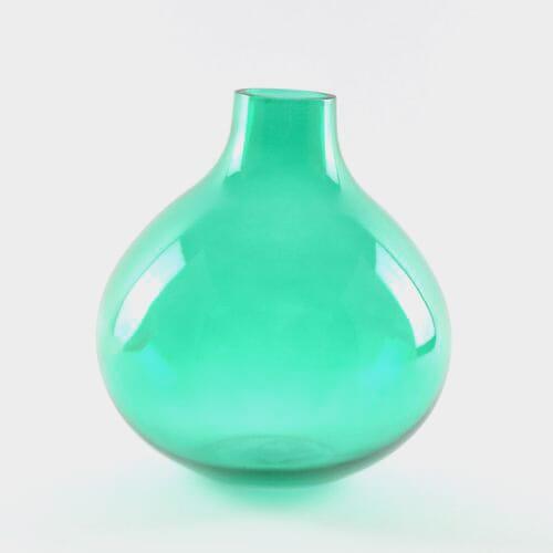 8 Inch H X 6.5 Inch W X 2 Inch Green Bud Vase