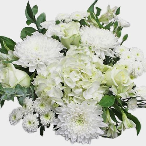 Wedding Bouquet 21 Stem - White Romance