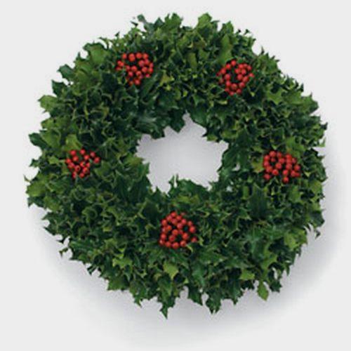 Green Holly Wreath 14