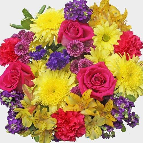 Mixed Bouquet 23 Stem - Hot Sun