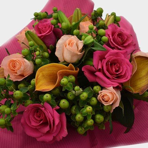 Premium Gift Bouquet Hot Pink & Orange Sweetie Pie