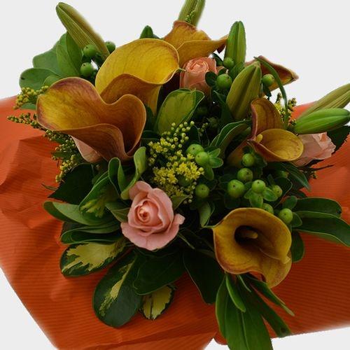 Premium Gift Bouquet Orange & Yellow Mellow