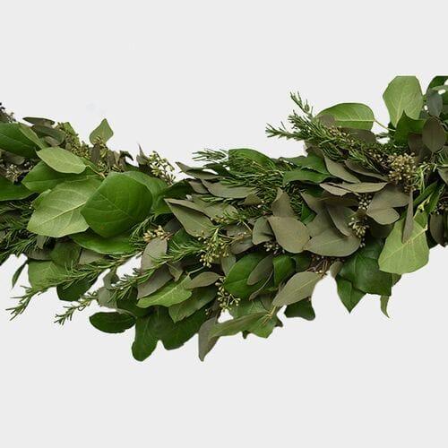 Garland Seeded Eucalyptus & Ruscus & Lemon  - 8 Feet
