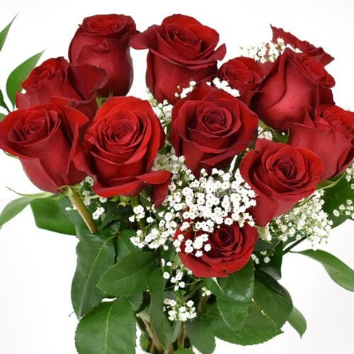Rose Bouquet 6 Stem - Red Freedom 50cm